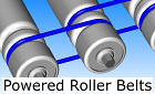 powered roller conveyor belts