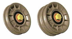 Stackable idler pulleys and sheaves